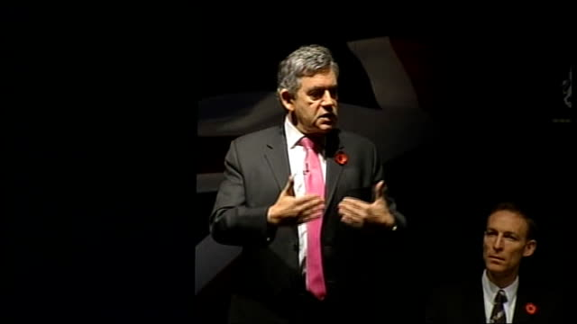 gordon brown speech to business leaders; gordon brown speech continued sot - secondly, important that there is co-ordination of monetary and fiscal... - co ordination stock videos & royalty-free footage