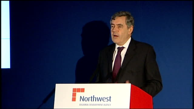 gordon brown speech to business leaders in liverpool gordon brown mp speech sot pays tribute to the city of liverpool / north west is the biggest... - new age stock videos & royalty-free footage