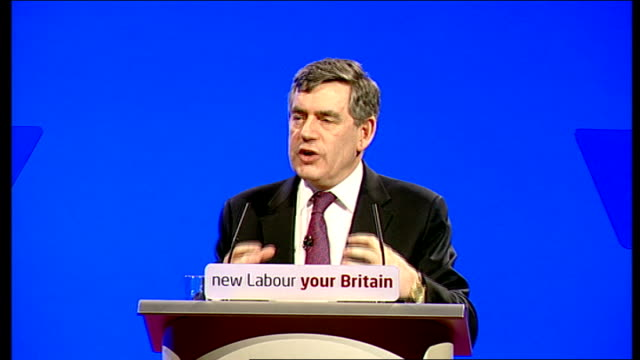 gordon brown speech to labour party spring conference; gordon brown speech continued sot - let us work not just to make britain fairer, but to bring... - confession law stock videos & royalty-free footage