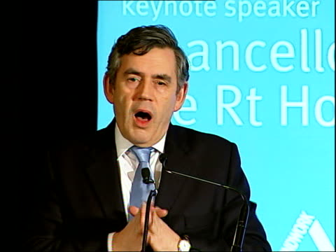 gordon brown speech to the green alliance england london regent street cafe royal int gordon brown mp along to podium and speech sot let me say how... - cafe royal stock videos and b-roll footage