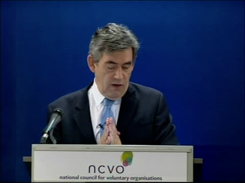 gordon brown speech to the national council of voluntary organisations and then in order to address the problems of the political system itself i... - new age stock videos & royalty-free footage