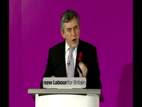gordon brown speech to the national policy forum; and by achieving agreement on higher standards i hope that we can work to build greater confidence... - new age stock videos & royalty-free footage