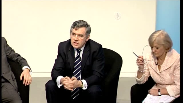 gordon brown takes part in climate change qa session with young people gordon brown mp response sot we want a legally binding treaty…uk is leading... - cent sign stock videos & royalty-free footage