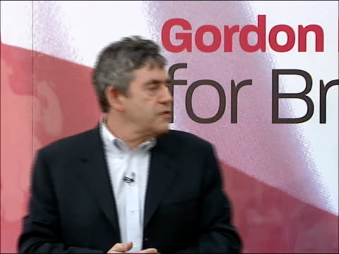 gordon brown tells young labour supporters his vision of free education england oxfordshire oxford modern art gallery int gordon brown mp along into... - oxfordshire stock videos & royalty-free footage
