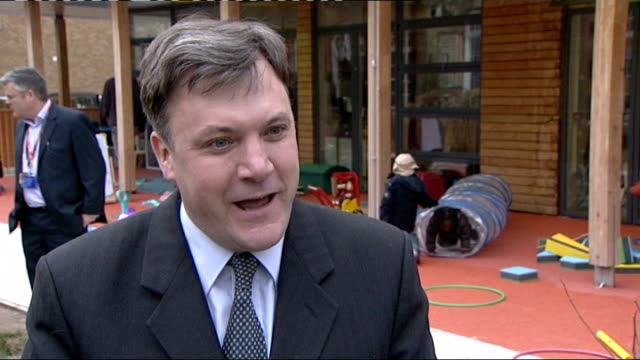 gordon brown tries to quell party rebellion over abolition of 10p tax rate; location unknown: ext ed balls mp interview sot - saying clarke and... - gordon brown stock-videos und b-roll-filmmaterial