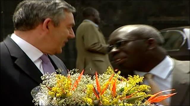 gordon brown under attack from conservative party; lib uganda: kampala: brown on walkabout and greeting ugandan locals - kampala stock videos & royalty-free footage