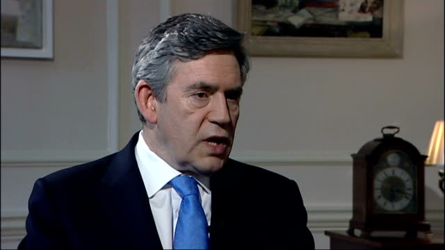 gordon brown under pressure over mps' expenses reform gordon brown mp interview sot i had to stand up for the public interest i had to stand up for... - ゴードン ブラウン点の映像素材/bロール
