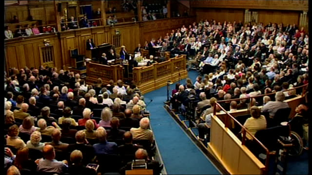gordon brown visit to church of scotland: speech; brown speech sot - today, to ask that simple searching question: 'who is my neighbour?' is also to... - missionary stock videos & royalty-free footage