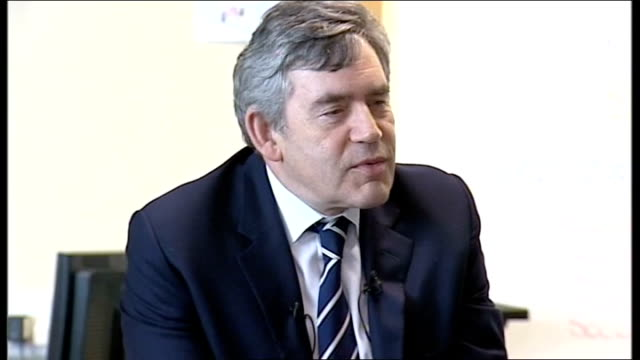 Gordon Brown visits school in Scotland Gordon Brown MP talking to school children SOT just been looking at what the job prospects are for people in...