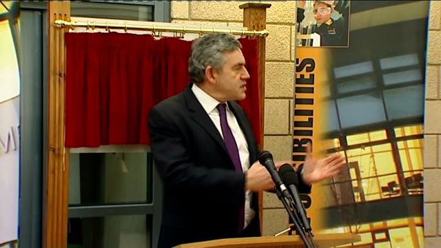Gordon Brown visits Swindon school Gordon Brown MP speech SOT thanks Chmn of Board of Governors and Headmaster thank everybody who made this new...