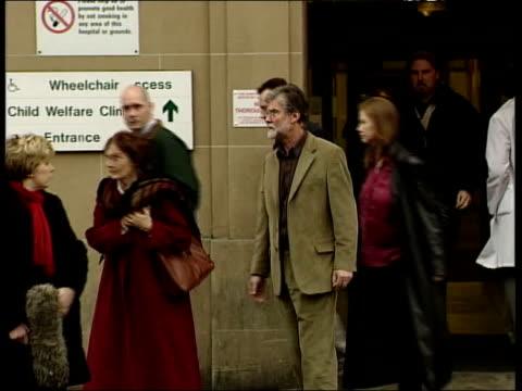 Gordon Brown's baby dies ITN Edinburgh Edinburgh Royal Infirmary GVs Hospital building with vehicles parked outside MS Window DAY MS Sarah Brown's...
