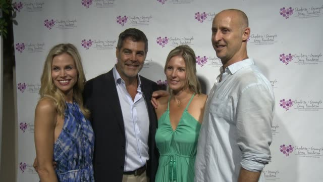 gordon gray, kristen gray, brooke burns, and gavin o'connor at the charlotte and gwenyth gray foundation to cure batten disease fundraiser on october... - brooke burns stock videos & royalty-free footage