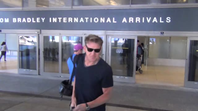 gordon ramsay arriving departing at lax airport on october 05 2015 in los angeles california - gordon ramsay stock videos and b-roll footage