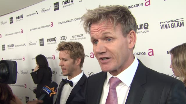 INTERVIEW Gordon Ramsay at Elton John AIDS Foundation Presents 21st Annual Academy Awards Viewing Party Sponsored By Chopard Neuro Drinks And Wells...