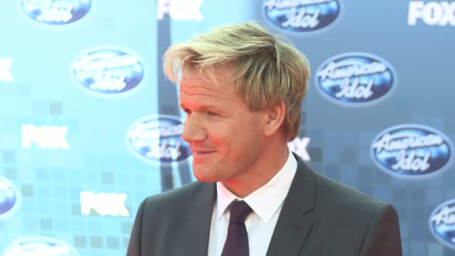 gordon ramsay at the fox's 'american idol 2011' finale results show at los angeles ca - gordon ramsay stock videos and b-roll footage