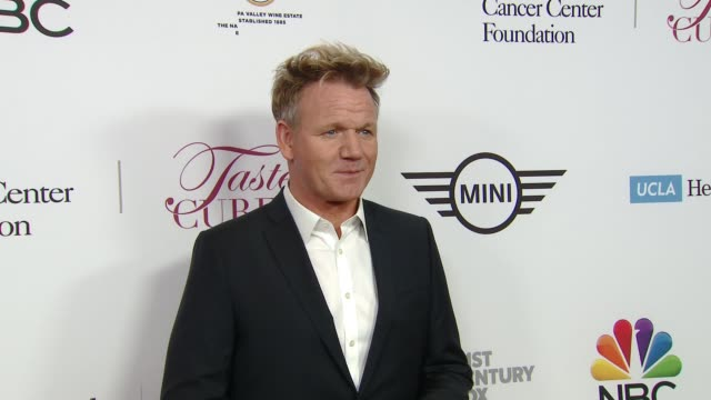 gordon ramsay at ucla jonsson cancer center foundation hosts 23rd annual taste for a cure event honoring nbc entertainment president paul telegdy in... - gordon ramsay stock videos and b-roll footage