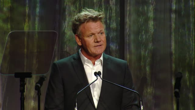 speech gordon ramsay at ucla jonsson cancer center foundation hosts 23rd annual taste for a cure event honoring nbc entertainment president paul... - gordon ramsay stock videos and b-roll footage
