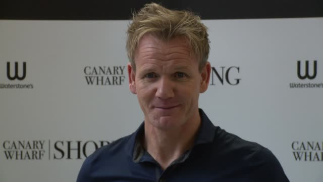 clean gordon ramsay book signing at canary wharf on december 13 2013 in london england - gordon ramsay stock videos and b-roll footage