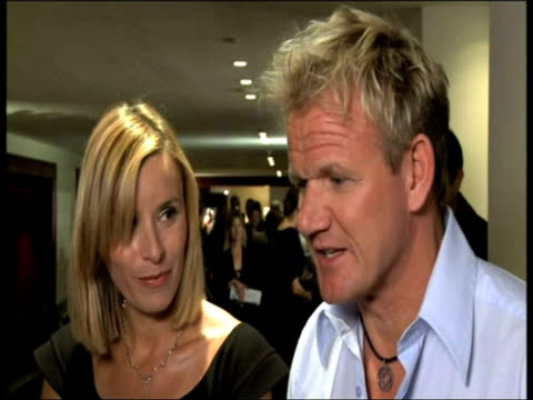 gordon ramsay on what people can expect from the one only's food and hotel at the one only cape town grand opening at cape town - gordon ramsay stock videos and b-roll footage