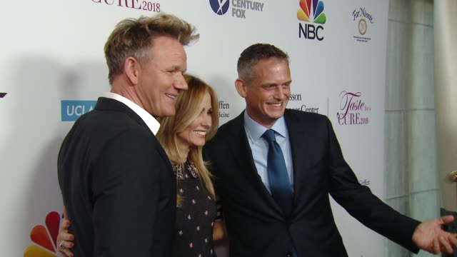gordon ramsay paul telegdy at ucla jonsson cancer center foundation hosts 23rd annual taste for a cure event honoring nbc entertainment president... - gordon ramsay stock videos and b-roll footage