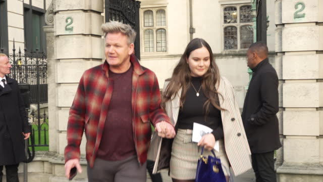 gordon ramsey at celebrity sightings in london on january 06 2019 in london england - gordon ramsay stock videos and b-roll footage