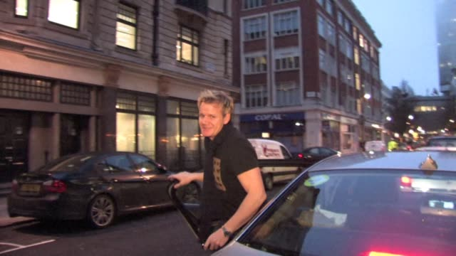 gordon ramsey at radio one at the celebrity video sightings in london at london england - gordon ramsay stock videos and b-roll footage