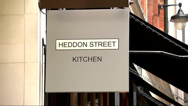gordon ramsey new restaurant 'sabotaged' on opening night england london ext general views of gordon ramsey's new restaurant 'heddon street kitchen' - gordon ramsay stock videos and b-roll footage