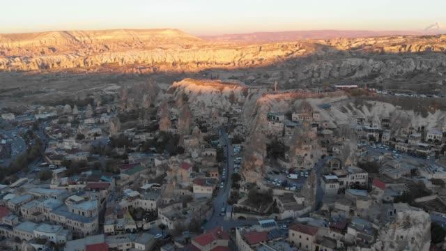 Goreme village during sunset