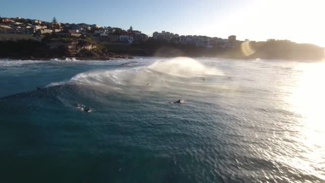 a gorgeous aerial view of bronte beach. sydney australia - sydney stock videos & royalty-free footage