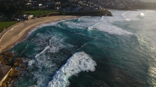 A gorgeous aerial view of Bronte Beach. Sydney Australia