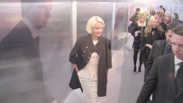 Gorgeous Cameron Diaz filmed inside the Chanel Haute Couture fashion show 2012 in Paris Cameron Diaz inside Chanel Haute Couture 2012 on January 24...