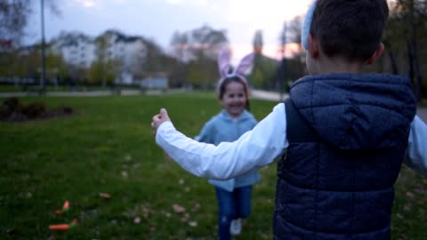 gorgeous children missing each other running for a hug - brother stock videos & royalty-free footage