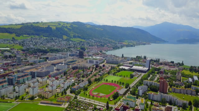 gorgeous city of zug - switzerland stock videos & royalty-free footage