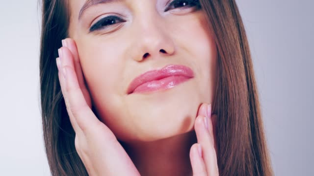gorgeous hair and flawless skin takes work - skin feature stock videos & royalty-free footage