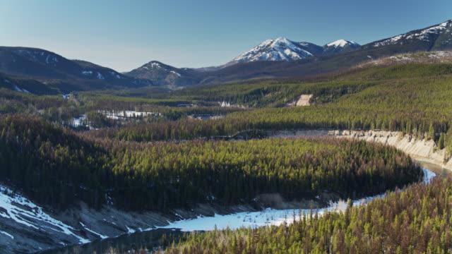 gorgeous landscape near glacier national park - aerial - us glacier national park stock videos & royalty-free footage