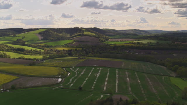 Gorgeous Rolling Landscape in South Downs, West Sussex - Drone Shot