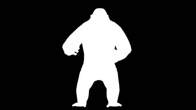 gorilla angry silhouette (loopable) - matte stock videos & royalty-free footage