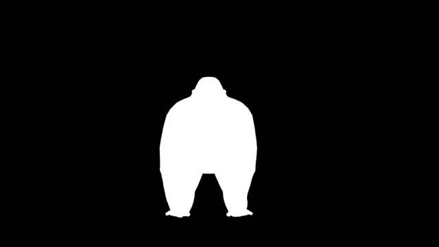 Gorilla Attack Silhouette