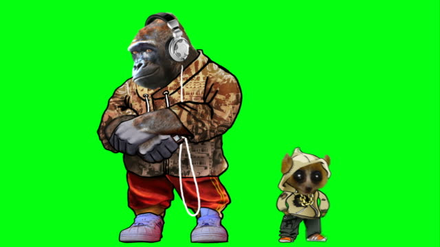 gorilla funk on green screen
