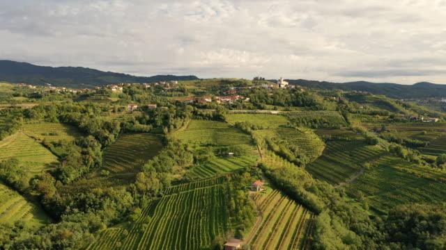 vídeos y material grabado en eventos de stock de aerial goriska brda region - cultura mediterránea