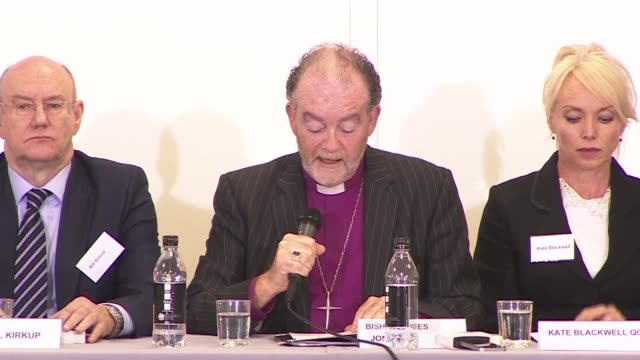 gosport independent panel press conference and qa england hampshire portsmouth int bishop james jones statement and qa at press conference sot - gosport stock videos & royalty-free footage