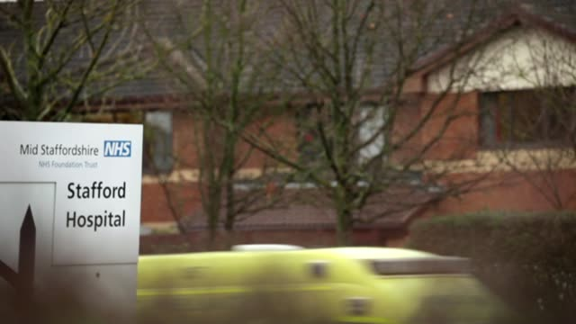 hospital scandals of recent years uk staffordshire library shot of stafford hospital sign / tx england staffordshire ext sign 'stafford hospital' as... - stafford england stock videos and b-roll footage