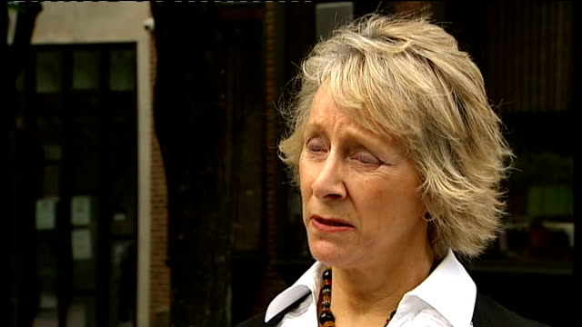 jury finds inappropriate medication killed three patients anne greaves speaking to press sot - gosport stock videos & royalty-free footage
