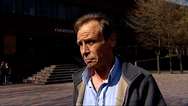 gosport memorial hospital inquest begin reporter chatting with iain wilson and interview sot reporter to camera - gosport stock videos & royalty-free footage