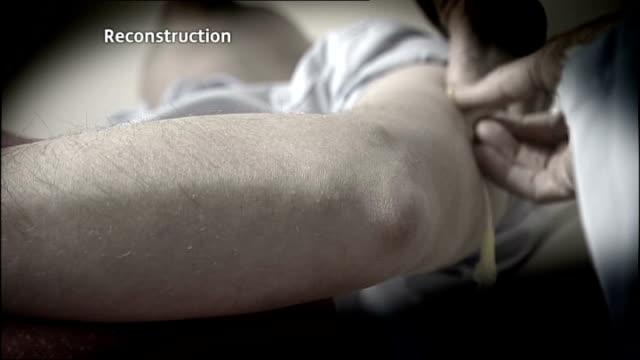 gosport memorial hospital inquest begin slow motion reconstruction nurse administering sedative to patient - gosport stock videos & royalty-free footage