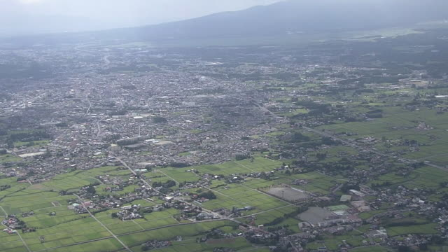 aerial, gotemba city, shizuoka, japan - earthquake stock videos & royalty-free footage