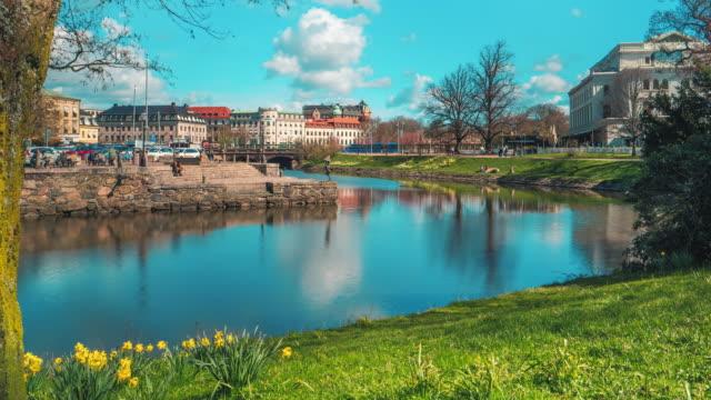 Gothenburg city Canal Time Lapse Establisher