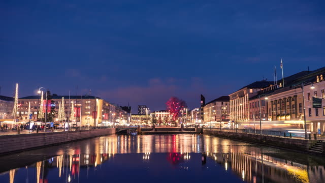 Gothenburg City Downtown Winter Time-lapse