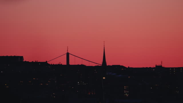 gothenburg city silhouette - vibrant color stock videos & royalty-free footage