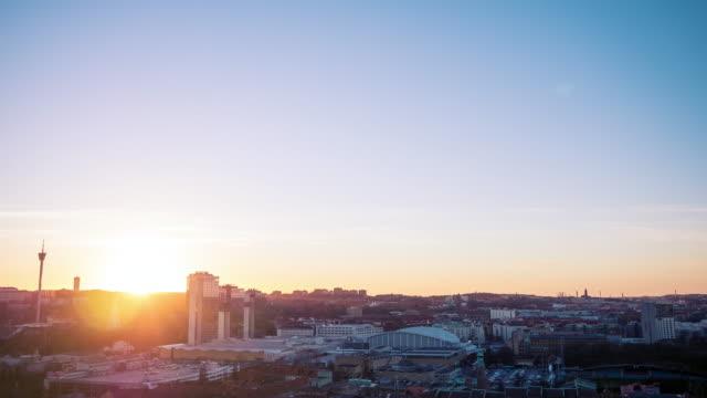 Gothenburg City Sunset Timelapse